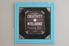 Creativity Frameable Art (Free Printable) - seven thirty three