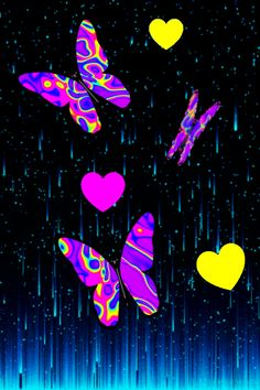 Butterfly Kisses, Butterflies, Carillons Diy, Gif Pictures, All Video, Abstract, Beautiful Flowers, Blue Nails, Lawn And Garden