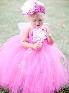 Hot Pink Fairytale Tutu Halter Dress