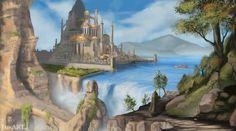 Waterfall City by ~JaikArt on deviantART