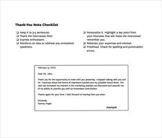 Sample Thank You Notes And Email Messages General Thank You Note