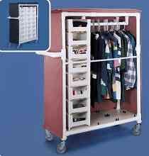 Storage Bin for Garment Rack Model Closet Storage, Storage Bins, Storage Spaces, Locker Storage, Organizing Your Home, Home Organization, Hanging Clothes Racks, Garment Racks, Portable Closet
