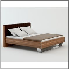 Welle Insua Bedframe with Cushioned headboard with Aluminium Foot 49197
