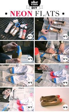 Cap toe flats #DIY