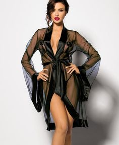 This beautiful #robe wraps your body in a veil of #chiffon and teases the senses with its sheer and suggestive finish.  #Fantasylingerie Fantasylingerie.com.au