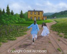 Beautiful Newfoundland artwork captured by artist Odell Archibald Newfoundland Canada, Newfoundland And Labrador, Special Of The Day, Please To Meet You, Two Of A Kind, Man On The Moon, Hopscotch, Covered Bridges, Simple Pleasures