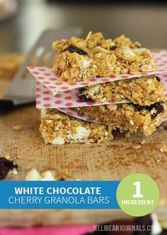 will love, try out this No-Bake White Chocolate Cherry Granola Bars ...