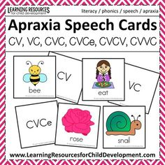 Apraxia Speech Cards for Speech Therapy - free speech cards - free printable - by Learning Resources for Child Development
