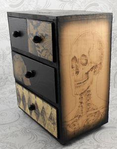 Dark Purple Bats Skeleton Skull Vintage Anatomy by pzcreations22, $29.50