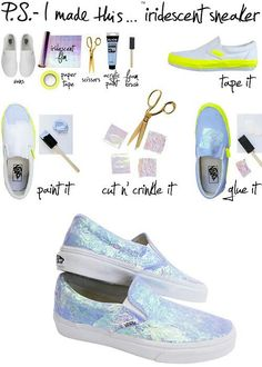 Cool diy shoes #diy #howto #ideas