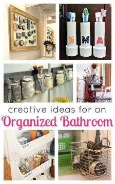 Must see ideas for Bathroom Organization! I never would've thought of these. So smart!