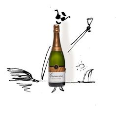 Cava Sparkles on Its Own Merits (Illustration: Serge Bloch)