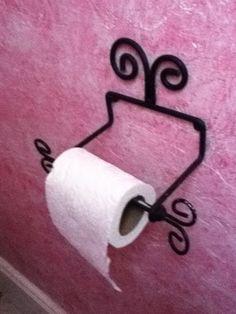 Toilet paper holder in my half bath.