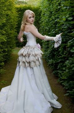 lovely steam punk wedding dress