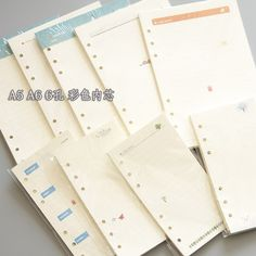 Do Hand Account of home pages 6 hole loose-leaf inner core color hand books A5A6 notepad schedule this replacement sheet core