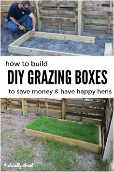 Chicken Coop - DIY grazing boxes save you money Building a chicken coop does not have to be tricky nor does it have to set you back a ton of scratch. Best Chicken Coop, Backyard Chicken Coops, Chicken Coop Plans, Chicken Feed, Building A Chicken Coop, Chicken Runs, Diy Chicken Waterer, Chicken Items, Chicken Lady