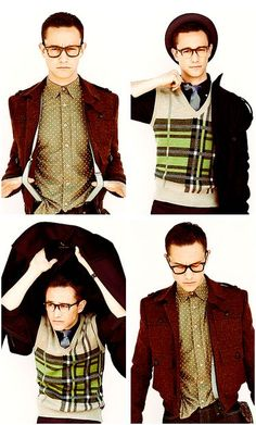 Joseph Gordon-Levitt -look at that wonderful man in a sweater vest <3 <3