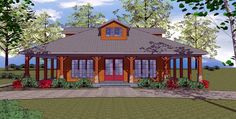 House Plan chp-49725 at COOLhouseplans.com  1225 square feet. Two bedrooms, two full baths. Open floor plan.