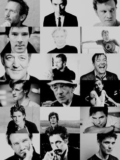 """So many talented, wonderful British men. I LOVE them ALL!!"