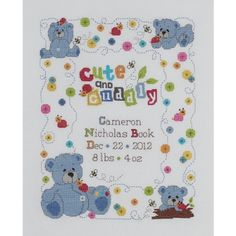 "Bucilla Cute & Cuddly Bear Birth Record Counted Cross Stitch Kit-10""X13"" 14 Count Bucilla http://www.amazon.com/dp/B009FJ2D5C/ref=cm_sw_r_pi_dp_kjBMvb0S2HBMG"