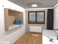 Dětský pokoj pro malého technika – RD Moravičany   očkodesign Decoration, Bunk Beds, Entryway, Furniture, Home Decor, Decor, Entrance, Decoration Home, Loft Beds
