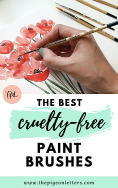 Professional grade cruelty-free paint brushes for watercolor, acrylic, gouache and more. Drawing Tutorials, Brush Pen, Paint Brushes, Gouache, Cruelty Free, Hand Lettering, Art Supplies, Office Supplies, Art Pieces