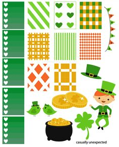 FREE Luck O' The Irish Free Printable Planner Stickers