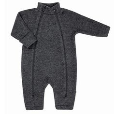 Joha barnevognsdragt i 100% Soft Wool. EU Ecolabel og Woolmark certificeret. Koksgrå.