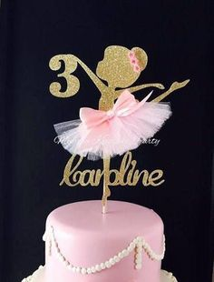 Ballerina pastel Topper bailarina fiesta decoraciones