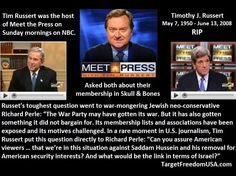 """Was Tim Russert of Meet the Press Murdered? -  December 8, 2014 