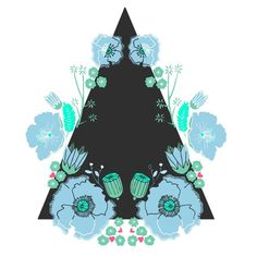 Floral wreath & triangle, by Alice Potter