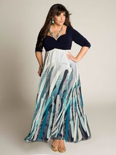 Attractive Plus Size Maxi Dresses With Sleeves