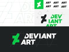 Designed by creative company Moving Brands, the new bold and angled logo features DeviantArt's initials in a sleek 'Calibre' font that is specially created by Klim Type Foundry.