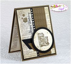 Soft Suede piece with the Argyle Embossing Folder, film framelits, dictionary. card by Sandi @ www.stampinwithsandi.ca