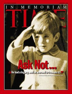 TIME Magazine Cover: John F. Kennedy Jr. - Aug. 2, 1999