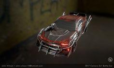 2017 Camaro ZL1 Battle Car , John Wilson on ArtStation at https://www.artstation.com/artwork/3P532