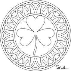 Printable Fun Shamrocks Adult coloring Craft and March crafts