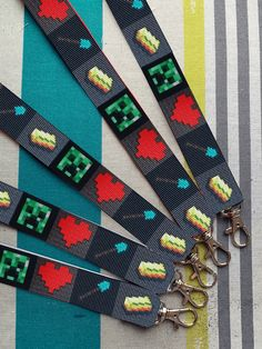 Mask Holder Lanyard! Minecraft Lanyard | Keychain | ID Holder | Phone Strap | Whistle Strap | Minecraft Face, Mask Quotes, She Mask, Lanyard Keychain, Great Teacher Gifts, Id Holder, Grosgrain Ribbon, Beauty And The Beast, Trending Outfits