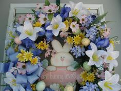 Easter wreath Spring floral wreath with darling by AnnieOjan, $70.00