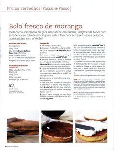 Revista bimby pt-s02-0007 - junho 2011 Bolo Fresco, Recipe Cards, Bento, Books Online, Cheesecake, Yummy Food, Cooking, Sweet, Desserts