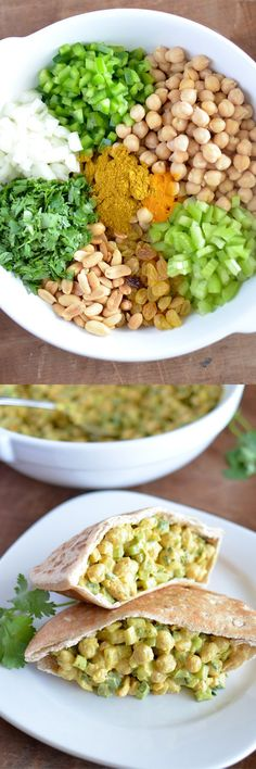 Curry Chickpea Salad | dairy free lunch, dairy free salad, healthy salad, healthy lunch ideas, chickpea recipes | @simplywhisked