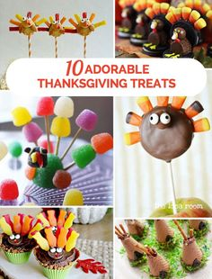 Adorable and super easy Thanksgiving treats for kids.