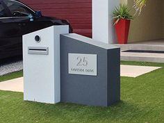 Mailbox Solutions in Loganholme, Brisbane, QLD, Landscaping Front Garden Landscape, House Landscape, Garden Landscaping, Facade House, House Facades, Outdoor Living, Outdoor Decor, Outdoor Ideas, Modern Mailbox