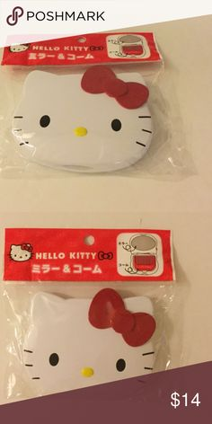 Hello Kitty Mirror & Comb Set Brand new, never opened. From Japan. Hello Kitty Accessories Hair Accessories