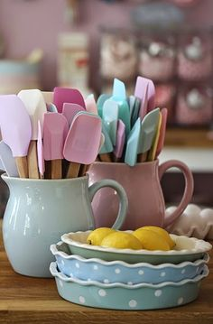 Pastel items for kitchen