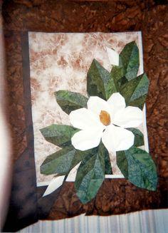 Les Magnolias,couture sur papier ou non tissé