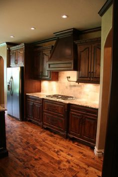 2010 Tulsa Parade Home- Nice Kitchen! Really like the dark wood