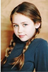 Actresses when they were little: Miley Cyrus