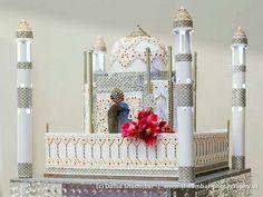 Taj Mahal Wedding Cake Henna mehndi wedding cake #henna #mehndi #mehendi #piping #wedding #cake #bling #exclusive #flower #KEEKjes #taj #mahal #lace