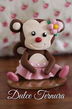 Topper Monita Bailarina Rosada #porcelanafría #polymerclay